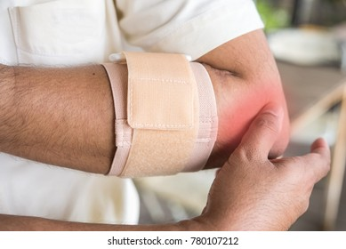 painful of lateral epicondyle  of elbow due to tendinitis  is a tennis elbow syndrome . it 's relief by tennis elbow supporter