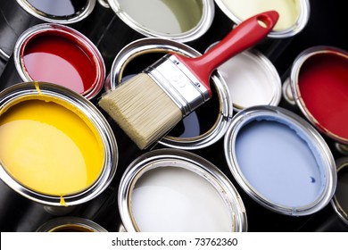 Paint and brush, Home decoration