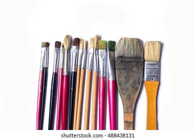 paint brush. Isolated on white background