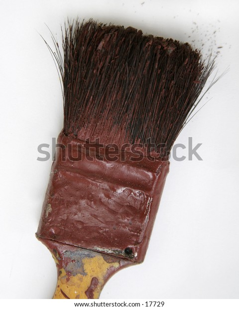 A paint brush isolated on white.