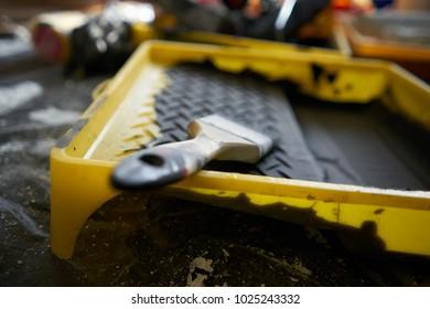 paint, brush, repair, building materials