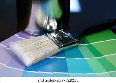 Paint Brush with Swatches