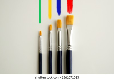 Paint and brushes.