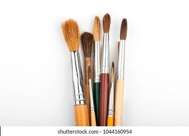 paint brushes. brush on white background