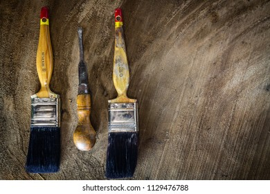 Paint brushes and can opener