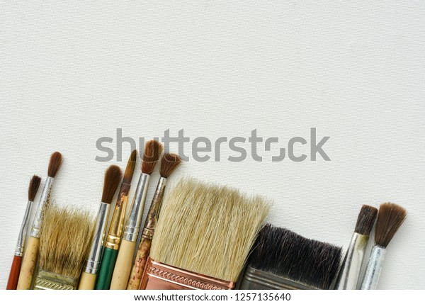 Paint Brushes Different Types Sizes On Stock Photo Edit Now