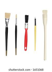 Paint brushes - illustration