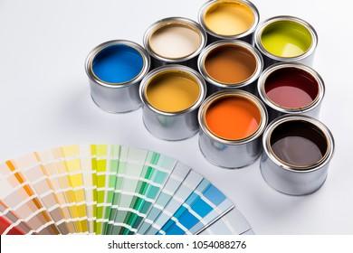 Paint cans color palette