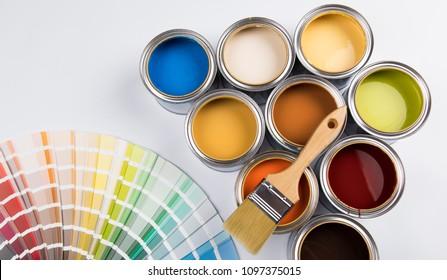 Paint cans color palette - Shutterstock ID 1097375015