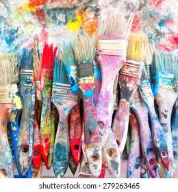 Paint cans color palette.