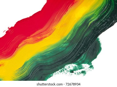 paint colorful on a white background