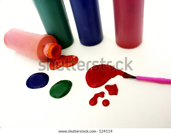 paint colors and brush