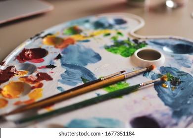Paint Creativity Palette Artist Color