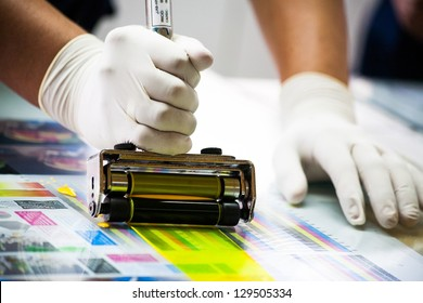 Paint lab in the industry