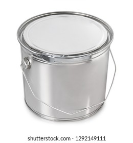 paint metal container isolated on white background