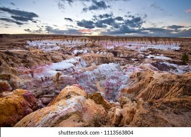 Paint Mines Interpretive Park at sunset, Calhan, Colorado