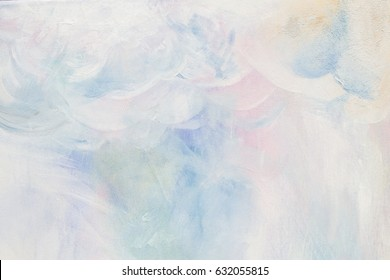 Paint On Canvas, Pastel Colors, Pale Pastel Texture, Background For Design, Lots Of Space For Your Copy