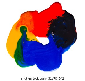 Paint on a white background