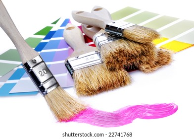 paint with a painter-brush
