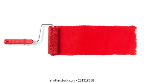 Paint roller Paint roller isolated on white