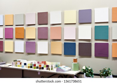 Paint samples at the hardware store