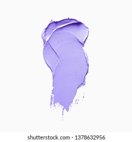 Paint smudge isolated on white background