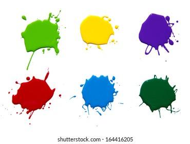 paint splash isolated on white . photo