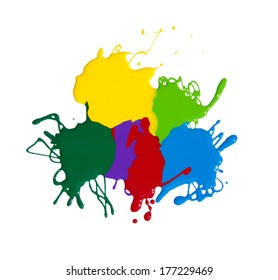 paint splash isolated on white