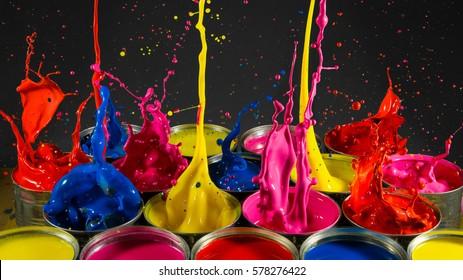 Paint Splash from tins