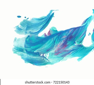 Paint texture. Abstract whales, cetacean, humpback isolated. Acrylic, oil painting. Decorative background. Fashion glamour banner. Decorative. Blue, purple, green color. Print, backdrop, wallpaper,