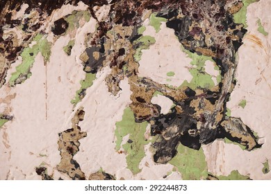paint texture background. grunge rusty metal with cracked paint. abstract green painting.