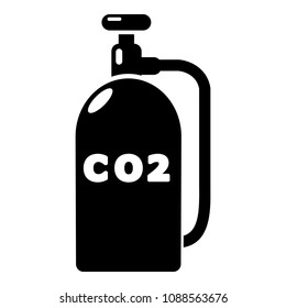 Paintball carbon dioxide canister icon. Simple illustration of paintball carbon dioxide canister icon for web design