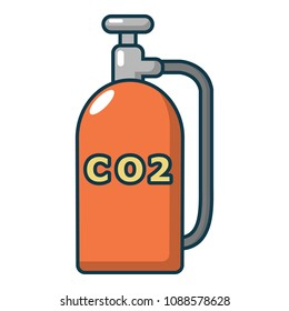 Paintball CO2 canister icon. Cartoon illustration of paintball CO2 canister icon for web