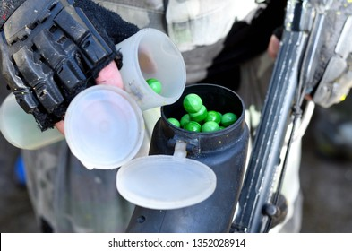 Paintball Gotcha Pot is filled with Paintballs