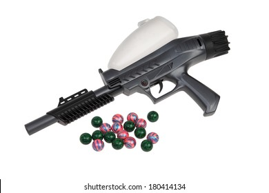 Paintball Gun Isolated Stock Photos, Images & Photography