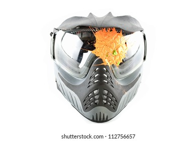 Paintball mask isolated on a white background