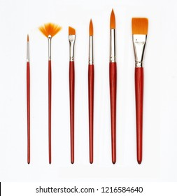 paintbrush .There are 6 sizes available. And the brush is not the same. on the White Blackground