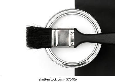 Paintbrush and Tin
