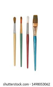Paintbrushes on a white background¬¬