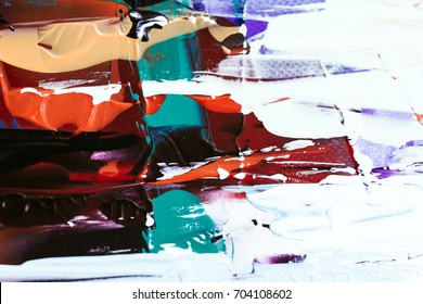 painted abstract background