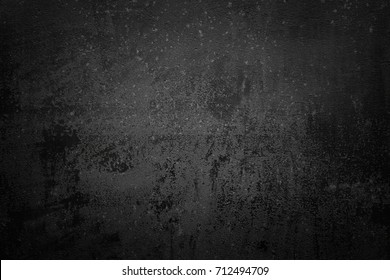 Painted black corroded steel texture. Background of metal.
