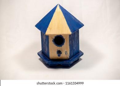 Painted Blue Bird House