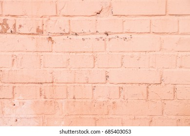 Painted brick wall background pink