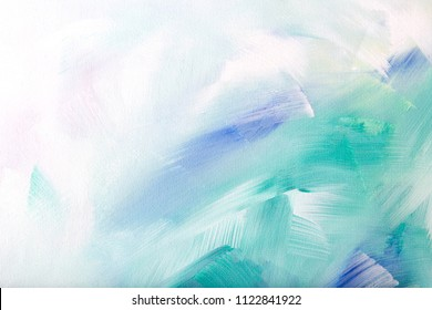 Painted colorful background with brush strokes
