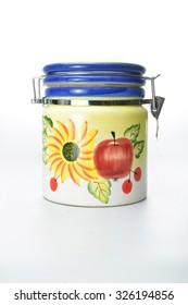 painted cookie jar