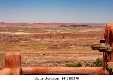 the painted desert from the painted  desert inn in the petrified forest national park