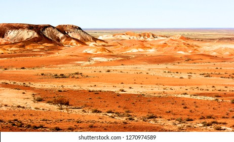 Painted desert near Cooper Pedy, South Australia - a town in northern South Australia, 846 km north of Adelaide on the Stuart Highway.