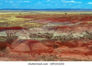 Painted Desert is part of Petrified Forest National Park in northeastern Arizona