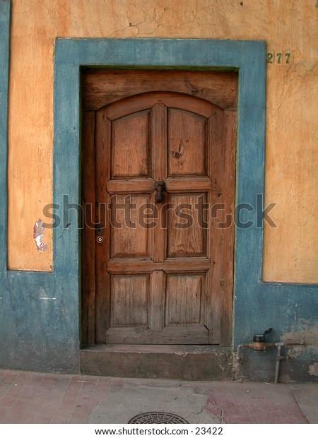 Painted Door in Mexico