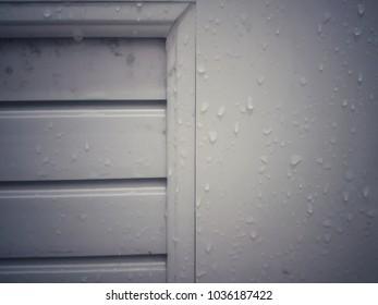 Painted door for waterproofing in the bathroom.